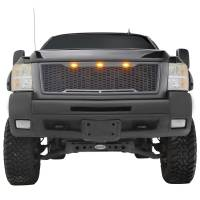 Paramount - ABS LED Metallic Charcoal Gray Impulse Mesh Packaged Grille #41-0177MCG - Image 3