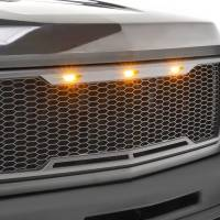 Paramount - ABS LED Metallic Charcoal Gray Impulse Mesh Packaged Grille #41-0177MCG - Image 4