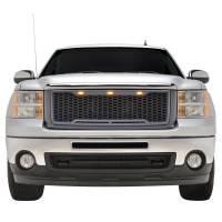 Paramount - ABS LED Metallic Charcoal Gray Impulse Mesh Packaged Grille #41-0178MCG - Image 3