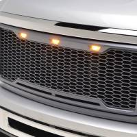 Paramount - ABS LED Metallic Charcoal Gray Impulse Mesh Packaged Grille #41-0178MCG - Image 4