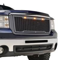 Paramount Automotive - ABS LED Metallic Charcoal Gray Impulse Mesh Packaged Grille #41-0179MCG - Image 1