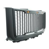Paramount Automotive - ABS LED Metallic Charcoal Gray Impulse Mesh Packaged Grille #41-0179MCG - Image 4