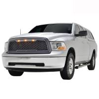 Paramount Automotive - ABS LED Metallic Charcoal Gray Impulse Mesh Packaged Grille #41-0180MCG - Image 1
