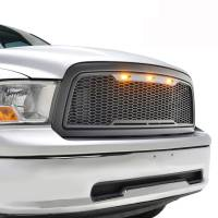 Paramount Automotive - ABS LED Metallic Charcoal Gray Impulse Mesh Packaged Grille #41-0180MCG - Image 2