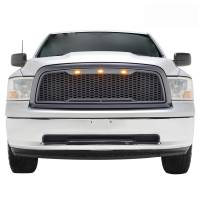 Paramount Automotive - ABS LED Metallic Charcoal Gray Impulse Mesh Packaged Grille #41-0180MCG - Image 3