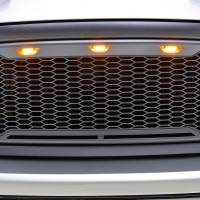 Paramount Automotive - ABS LED Metallic Charcoal Gray Impulse Mesh Packaged Grille #41-0180MCG - Image 4