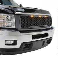 Paramount Automotive - ABS LED Metallic Charcoal Gray Impulse Mesh Packaged Grille #41-0181MCG - Image 1