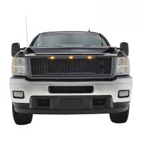 Paramount Automotive - ABS LED Metallic Charcoal Gray Impulse Mesh Packaged Grille #41-0181MCG - Image 4