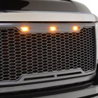 Paramount - ABS LED Metallic Charcoal Gray Impulse Mesh Packaged Grille #41-0182MCG - Image 3
