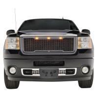 Paramount - ABS LED Metallic Charcoal Gray Impulse Mesh Packaged Grille #41-0182MCG - Image 6
