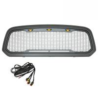 Paramount - ABS LED Metallic Charcoal Gray Impulse Mesh Packaged Grille #41-0183MCG - Image 4