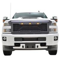 Paramount Automotive - ABS LED Metallic Charcoal Gray Impulse Mesh Packaged Grille #41-0190MCG - Image 3