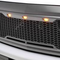 Paramount Automotive - ABS LED Metallic Charcoal Gray Impulse Mesh Packaged Grille #41-0190MCG - Image 4