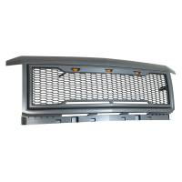 Paramount Automotive - ABS LED Metallic Charcoal Gray Impulse Mesh Packaged Grille #41-0190MCG - Image 5