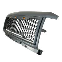 Paramount Automotive - ABS LED Metallic Charcoal Gray Impulse Mesh Packaged Grille #41-0190MCG - Image 6
