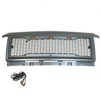 Paramount Automotive - ABS LED Metallic Charcoal Gray Impulse Mesh Packaged Grille #41-0190MCG - Image 7