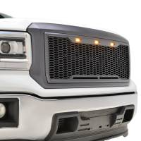 Paramount Automotive - ABS LED Metallic Charcoal Gray Impulse Mesh Packaged Grille #41-0192MCG - Image 2