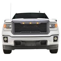 Paramount Automotive - ABS LED Metallic Charcoal Gray Impulse Mesh Packaged Grille #41-0192MCG - Image 4