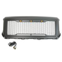 Paramount Automotive - ABS LED Metallic Charcoal Gray Impulse Mesh Packaged Grille #41-0192MCG - Image 3