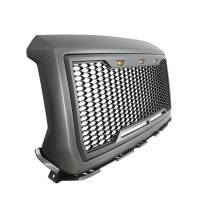 Paramount Automotive - ABS LED Metallic Charcoal Gray Impulse Mesh Packaged Grille #41-0192MCG - Image 5