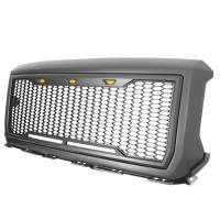 Paramount Automotive - ABS LED Metallic Charcoal Gray Impulse Mesh Packaged Grille #41-0192MCG - Image 6