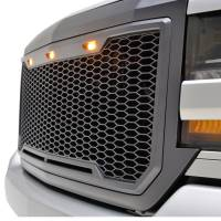 Paramount - ABS LED Metallic Charcoal Gray Impulse Mesh Packaged Grille #41-0193MCG - Image 2