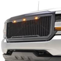 Paramount - ABS LED Metallic Charcoal Gray Impulse Mesh Packaged Grille #41-0193MCG - Image 4