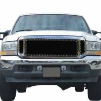 Paramount Automotive - Black Evolution Stainless Steel Wire Mesh Cutout Grille #46-0705 - Image 1