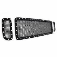 Paramount Automotive - Black Evolution Stainless Steel Wire Mesh Cutout Grille #46-0705 - Image 3