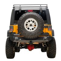 Paramount Automotive - Heavy Duty Rock Crawler Rear Bumper w/ Tire Carrier Black #51-0315 - Image 2