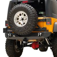 Paramount Automotive - Heavy Duty Rock Crawler Rear Bumper w/ Tire Carrier Black #51-0315 - Image 3