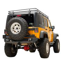 Paramount Automotive - Heavy Duty Rock Crawler Rear Bumper w/ Tire Carrier Black #51-0315 - Image 4