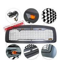 Paramount Automotive - ABS LED Metallic Charcoal Gray Impulse Mesh Packaged Grille #41-0197MCG - Image 4
