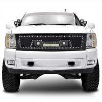 Paramount Automotive - Black Evolution Stainless Steel Wire Mesh Packaged Grille w/ LED #48-0844 - Image 1