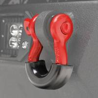 Paramount Automotive - Red D-Ring (4.75 Ton, Pair) with Black Isolator #51-0526 - Image 3