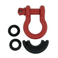 Paramount Automotive - Red D-Ring (4.75 Ton, Pair) with Black Isolator #51-0526 - Image 5