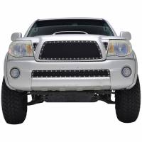 Paramount Automotive - Black Evolution Stainless Steel Wire Mesh Cutout Grille #46-0722 - Image 1