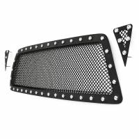 Paramount Automotive - Black Evolution Stainless Steel Wire Mesh Cutout Grille #46-0722 - Image 5