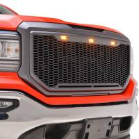 Paramount - ABS LED Metallic Charcoal Gray Impulse Mesh Packaged Grille #41-0194MCG - Image 1