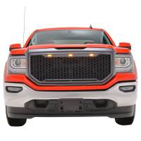 Paramount - ABS LED Metallic Charcoal Gray Impulse Mesh Packaged Grille #41-0194MCG - Image 2