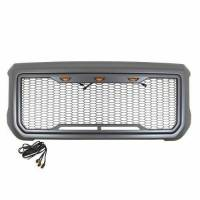 Paramount - ABS LED Metallic Charcoal Gray Impulse Mesh Packaged Grille #41-0204MCG - Image 1