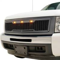 Paramount - ABS LED Metallic Charcoal Gray Impulse Mesh Packaged Grille #41-0196MCG - Image 2