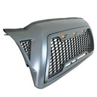 Paramount - ABS LED Metallic Charcoal Gray Impulse Mesh Packaged Grille #41-0202MCG - Image 2