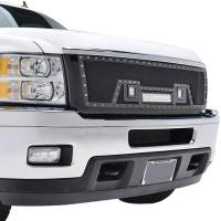 Paramount - Black Evolution Stainless Steel Wire Mesh Packaged Grille w/ LED #48-0835 - Image 9