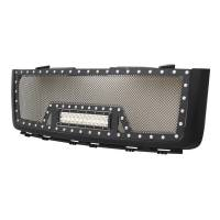 Paramount - Black Evolution Stainless Steel Wire Mesh Packaged Grille w/ LED #48-0832 - Image 3
