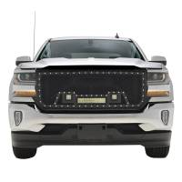 Paramount - Black Evolution Stainless Steel Wire Mesh Packaged Grille w/ LED #48-0854 - Image 1