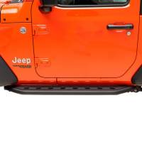 X-J18JLRG001 - (2 Door) Tubular Round Hole Rock Slider/Running Board #51-8118 - Image 1