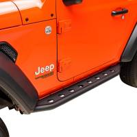 X-J18JLRG001 - (2 Door) Tubular Round Hole Rock Slider/Running Board #51-8118 - Image 3