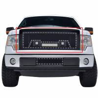 Paramount - Black Evolution Stainless Steel Wire Mesh Packaged Grille w/ LED #48-0824 - Image 1