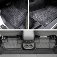 Paramount - 4PCS 2 Door Front and Rear Floor Liners (Black) #59-1126 - Image 1